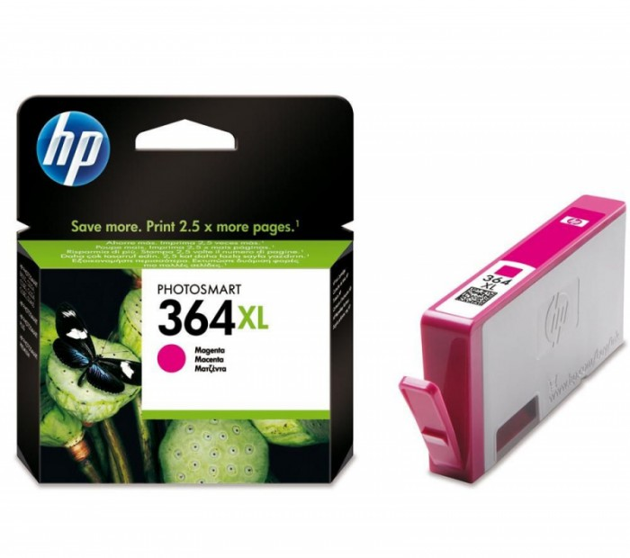 Cartus cerneala Original HP Magenta 364XL w.Vivera ink, compatibil PhotoSmart 7510/C5380/6380/D5460/7560  [0]