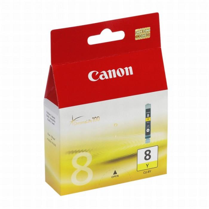 Cartus cerneala Original Canon CLI-8Y Yellow, compatibil iP4200  [0]