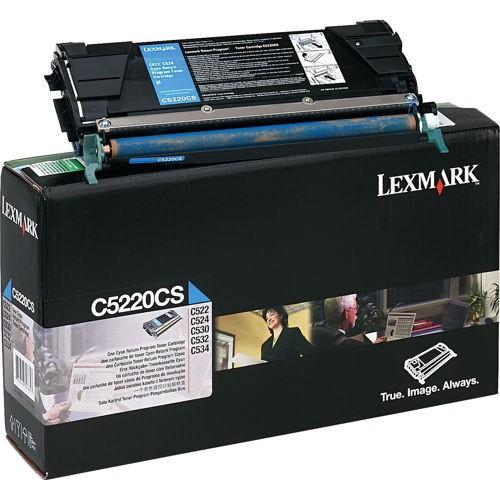Toner Original pentru Lexmark Cyan, compatibil C522/524/530/532/534, 3000pag  [0]
