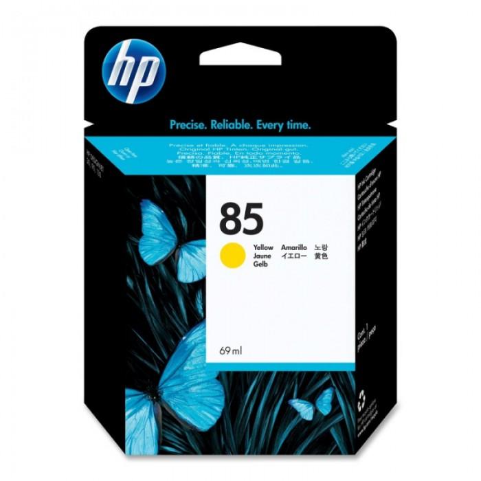 Cartus cerneala Original HP Yellow 85 w.Vivera ink, compatibil DesignJet 130/30/90, 69ml  0