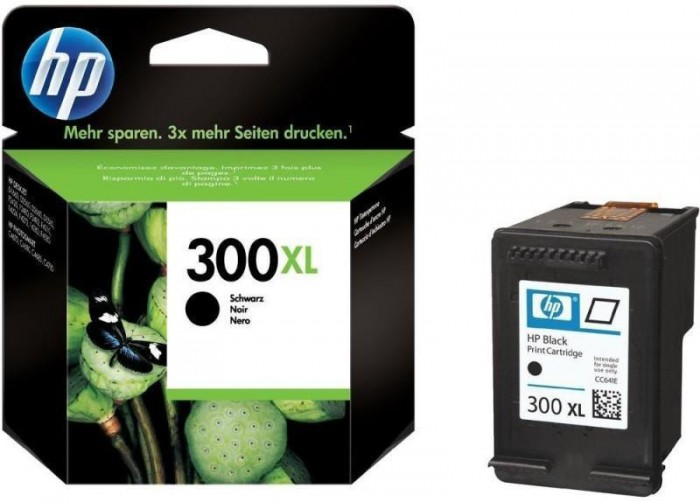 Cartus cerneala Original HP Black 300XL w.Vivera ink, compatibil DJ D2530/2560/2660/5560/F2420/2480/4280/PS C4680/4780, 600pag  0