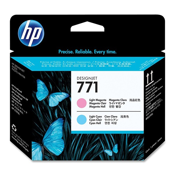 Cartus cerneala Original HP Magenta Light+Cyan Light 771 Printhead, compatibil DesignJet Z6200  0