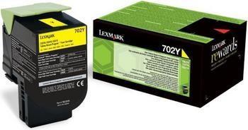 Toner Original pentru Lexmark Yellow 702Y, compatibil CS310/410/510, 1000pag  0