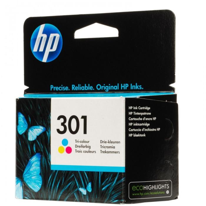 Cartus cerneala Original HP Tri-color 301 w.Vivera ink, compatibil DJ1000/1050/1055/2050/3050, 165pag  0