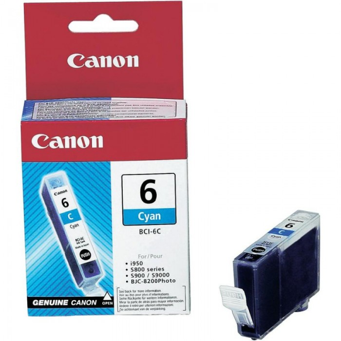 Cartus cerneala Original Canon BCI-6C Cyan, compatibil S800   [0]