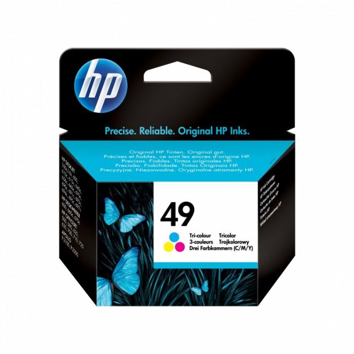 Cartus cerneala Original HP Tri-color 49, compatibil DJ 35x/6xx, 22.8ml, 310pag  0