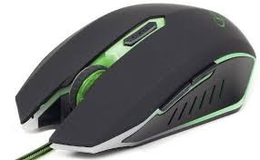 Mouse GEMBIRD Gaming , 2400dpi, USB, green 0