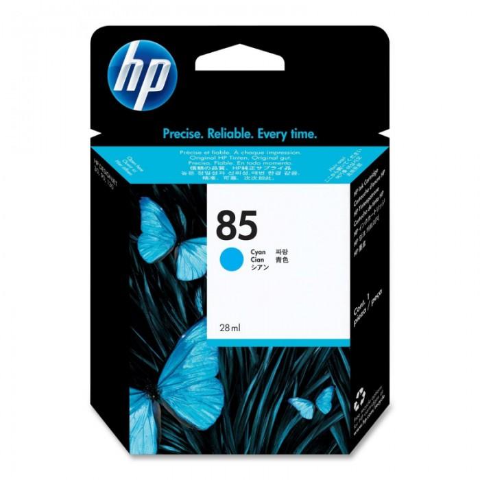 Cartus cerneala Original HP Cyan 85 w.Vivera ink, compatibil DesignJet 130/30/90, 28ml  [0]