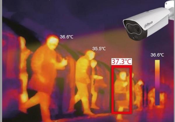 Kit pentru masurarea temperaturii umane Dahua: camera termala, scaner de precizie, smart NVR, licenta ProBase 3