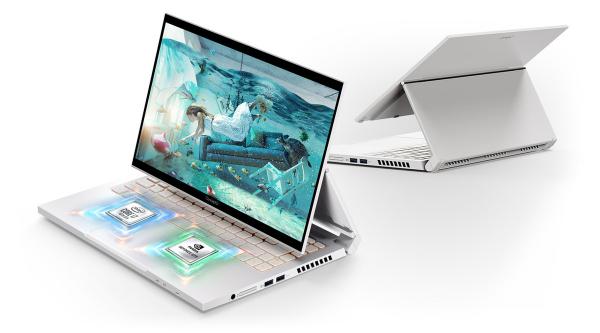 Laptop 2in1 Acer ConceptD 3 Ezel CC315-72G Intel Core (10th Gen) i7-10750H 512GB SSD 16GB GTX 1650 4GB FullHD Touch Win10 Pro FPR T.il.+Pen 1