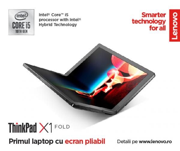 """Laptop 2in1 LENOVO ThinkPad X1 FOLD Gen 1, cu ecran pliabil, Intel Core i5-L16G7 (5C / 5T, 1.4 / 3.0GHz, 4MB), 8GB, 512GB SSD, 13.3"""" QXGA,  Windows 10 Pro 64 3"""