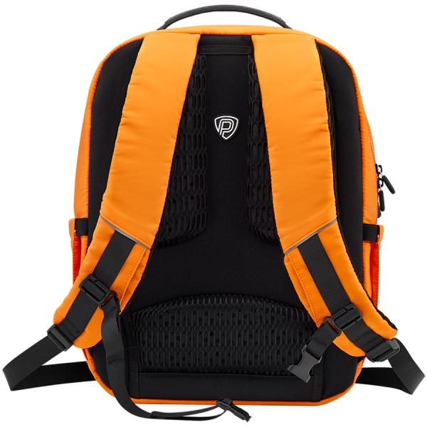 LEDme backpack, animated backpack with LED display, Nylon+TPU material, Dimensions 42*31.5*20cm, LED display 64*64 pixels, orange 1