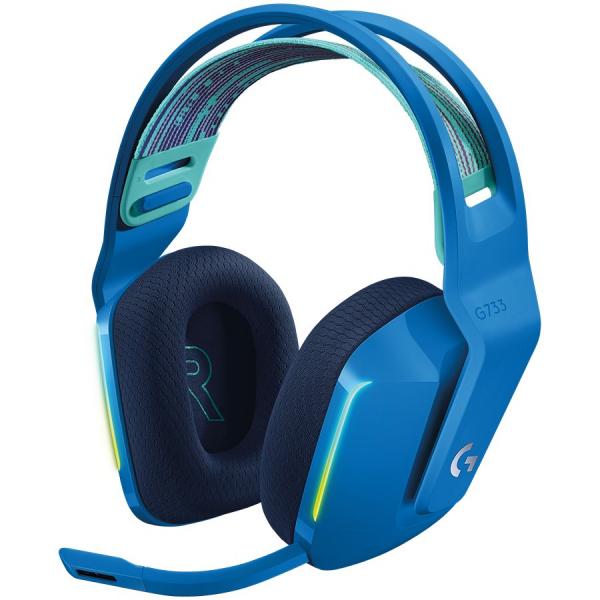 LOGITECH G733 LIGHTSPEED Wireless RGB Gaming Headset - BLUE - 2.4GHZ - EMEA 0