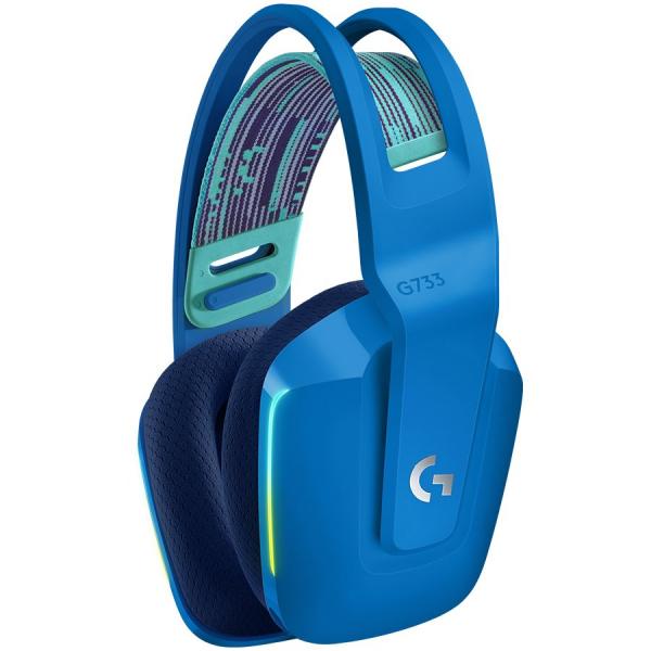 LOGITECH G733 LIGHTSPEED Wireless RGB Gaming Headset - BLUE - 2.4GHZ - EMEA 1
