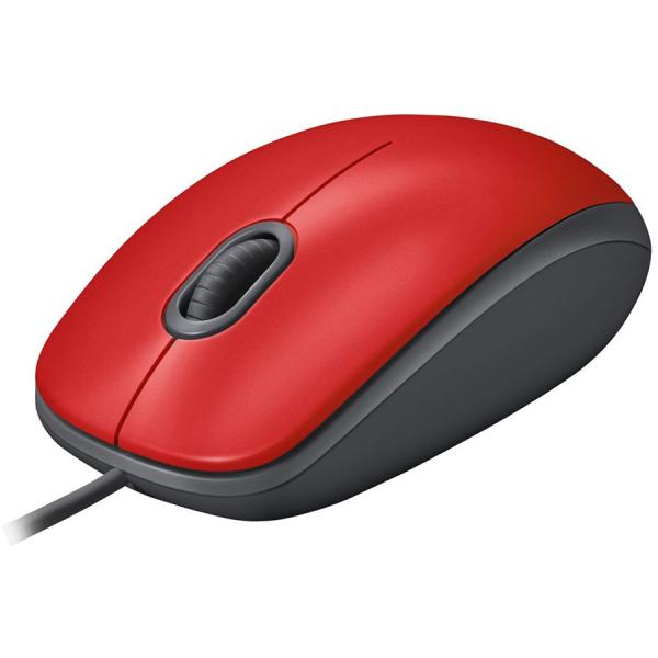 LOGITECH M110 Silent - RED - USB - EMEA - ARCA M110S 0