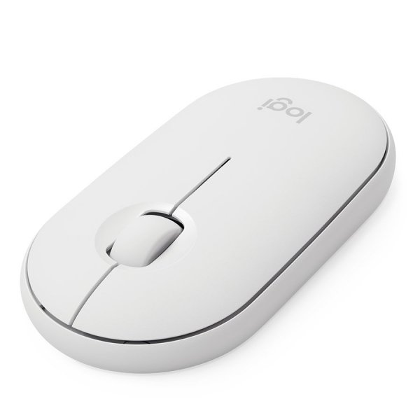 LOGITECH Pebble M350 Wireless Mouse - OFF-WHITE - 2.4GHZ/BT - EMEA - CLOSED BOX 1