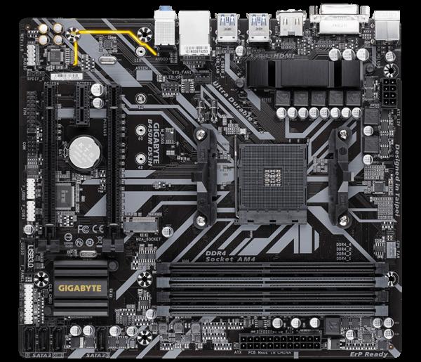 """MB  skt AM4  (AMD B450)  Gigabyte  """"B450M DS3H"""" 2"""
