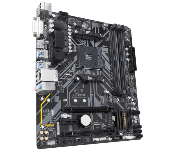 """MB  skt AM4  (AMD B450)  Gigabyte  """"B450M DS3H"""" 0"""