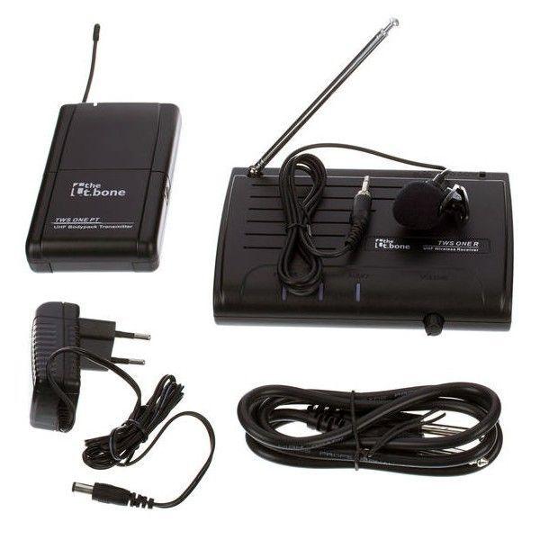 Microfon Lavaliera Wireless, The t.Bone, TWS one, C Lapel, Negru - pentru scoala online 2