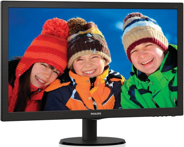 "Monitor LED PHILIPS 273V5LHSB/00 (27"""", 1920x1080, LED Backlight, 1000:1, 10000000:1(DCR), 170/160, 5ms, HDMI/DVI/VGA) Black 3"