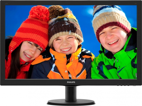 "Monitor LED PHILIPS 273V5LHSB/00 (27"""", 1920x1080, LED Backlight, 1000:1, 10000000:1(DCR), 170/160, 5ms, HDMI/DVI/VGA) Black 0"