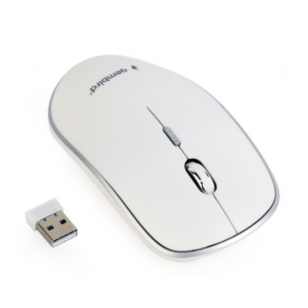"MOUSE GEMBIRD wireless, 1600dpi, 4 butoane, 1 rotita scroll, white ""MUSW-4B-01-W"" (include timbru verde 0.1 lei) [0]"