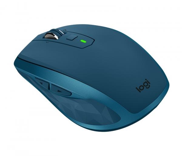 "MOUSE LOGITECH wireless laser, 4000dpi, 7 butoane, 1 rotita scroll, ""MX Anywhere 2S"", albastru, ""910-005154"" (include timbru verde de 0.1 lei) 2"