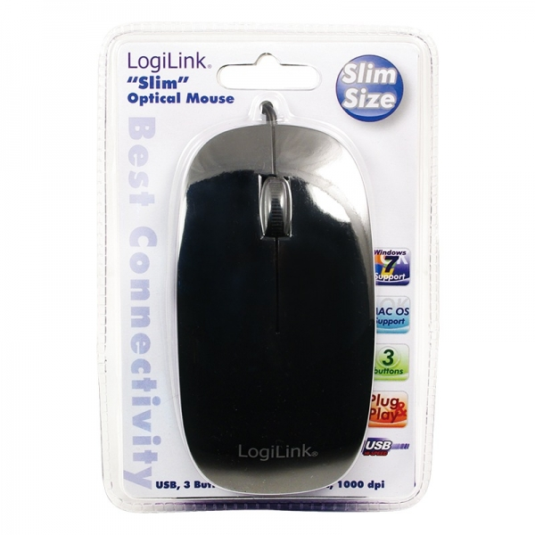 """Mouse  Optical Scroll Mouse, BLACK """"ID0063"""" 1"""