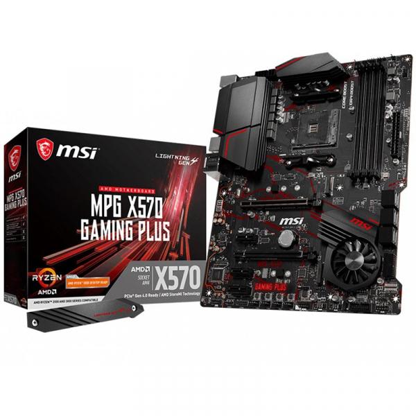 MSI Main Board Desktop X570 (SAM4, 4xDDR4, 1xPCI-Ex16, 1xPCI-Ex4, 3xPCI-Ex1, 6xSATA III, 2xM2, RAID, HDMI, USB3.2, USB2.0, GLAN) ATX Retail 0