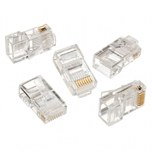 """MUFE RJ  45 (100 BUC), solid CAT5 LAN cable, GEMBIRD """"LC-8P8C-001/100"""" 0"""