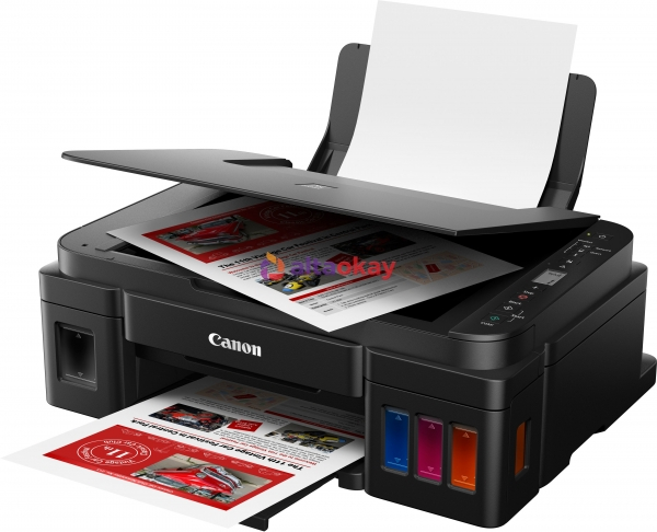 "Multifunctional CANON, Thermal Inkjet, PIXMA G3411, USB, WiFi, Windows, iOS, Android, Paper input 100 sheets, Resolution 4800x1200 dpi, Copy, Scan, Colour printing, Device colour Black, ""2315C025AA"" ( 0"