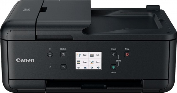 Multifunctional inkjet color Canon Pixma TR4550, dimensiune A4 (Printare, Copiere, Scanare, Fax, Cloud link), duplex, viteza 8.8ppm alb-negru, 4.4ppm color, rezolutie 4800x1200 dpi, alimentare hartie  1