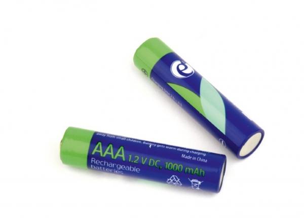 """Ni-MH rechargeable AAA batteries, 1000mAh, 2pcs blister pack """"EG-BA-AAA10-01"""" 0"""