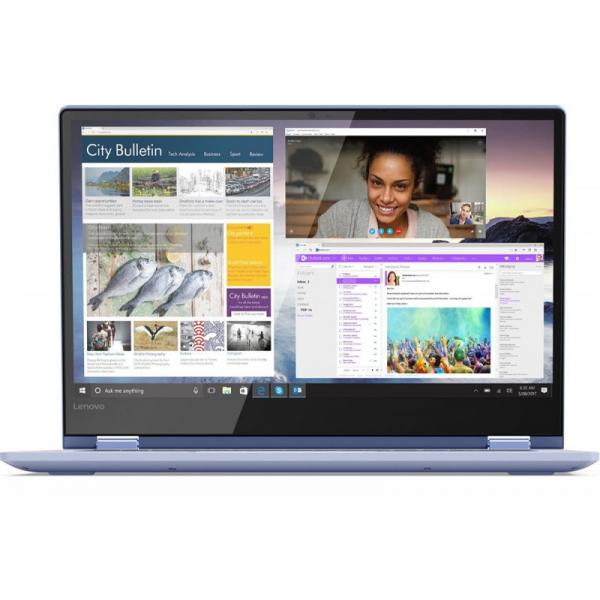"NOTEBOOK 2 in 1/Touchscreen, Yoga, 530-14IKB, Core i5, CPU i5-8250U, 1600 MHz, Screen 14"", Touchscreen, Resolution 1920x1080, RAM 8GB, DDR4, Frequency speed 2400 MHz, SSD 512GB, VGA card Intel UHD Gra 2"