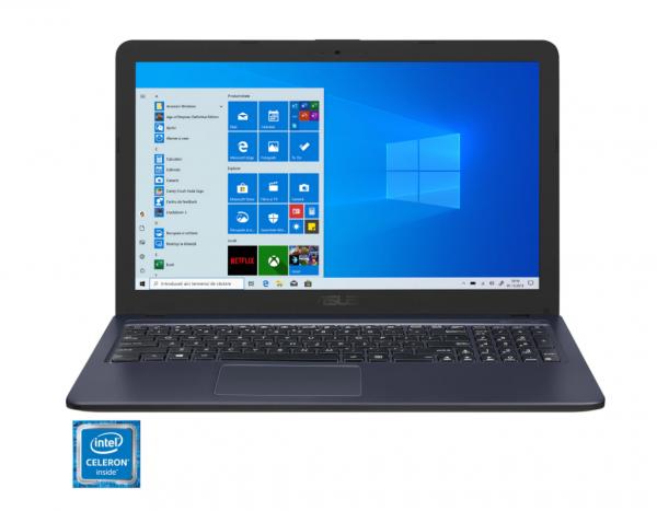 "Laptop ASUS X543MA cu procesor Intel® Celeron® N4000 pana la 2.60 GHz, 15.6"", HD, 4GB, 256GB SSD, Intel® UHD, Licenta Windows 10 Home, Star Grey 0"