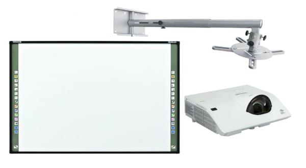 "Pachet interactiv Premium ST 98"", format din: Tabla Interactiva Starboard FX98E2 diagonala 98"" (249cm), suport perete pentru videoproiector Reflecta + videoproiector Maxell MCCW301, software in romana 0"