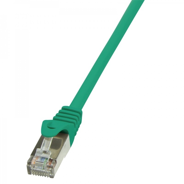 """Patch Cable Cat.5e F/UTP  1,00m green """"CP1035S"""" 0"""