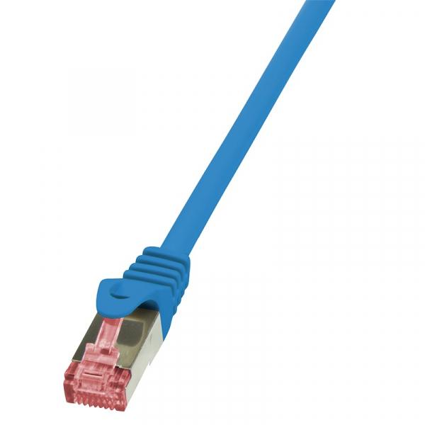 """Patch Cable Cat.6 S/FTP blue  1,00m, PrimeLine """"CQ2036S"""" 0"""