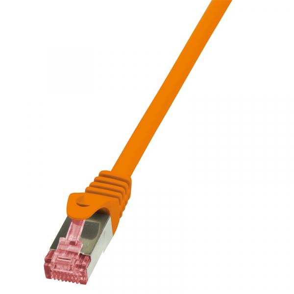 """Patch Cable Cat.6 S/FTP orange  0,50m, PrimeLine """"CQ2028S"""" 0"""