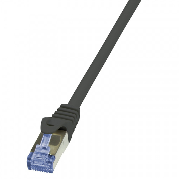 "Patch Cable Cat.6A S/FTP black  7,50m, PrimeLine ""CQ3083S"" 0"