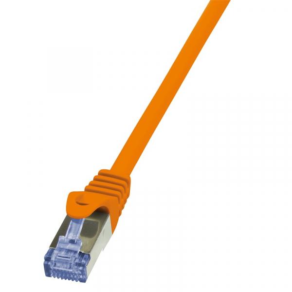 Patch Cable Cat.6A S/FTP orange 10m, PrimeLine 0