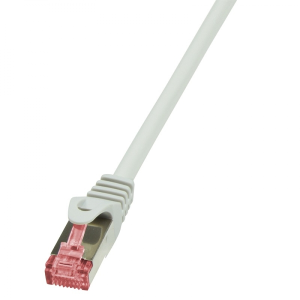 "PATCH CORD  S/FTP LOGILINK Cat6,  0.5m, AWG27, Cu, low smoke zero halogen, alb, ""CQ2022S 0"