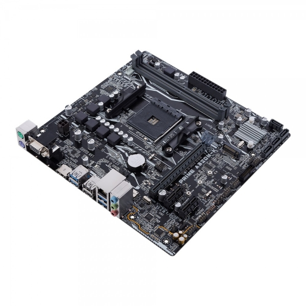 Placa de baza ASUS skt. AM4, AMD A320, PRIME A320M-K,  DDR4 3200MHz, 32Gb/s M.2, HDMI, SATA 6Gb/s, 1* PCIe 3.0/2.0 x16 (x16 mode), 1* PCIe 3.0/2.0 x16 (x8 mode), 2* PCIe 2.0 x1, 4 x SATA 6Gb/s , 6* US 1