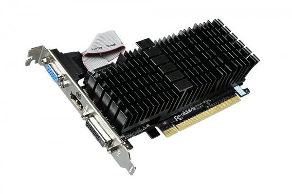 Placa video GIGABYTE NVIDIA GeForce GT 710, N710SL-1GL, PCI-E, 1024MB DDR3, 64bit, 954MHz, 1800MHz, VGA, DVI, HDMI, HEATSINK 1