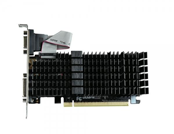 Placa video GIGABYTE NVIDIA GeForce GT 710, N710SL-1GL, PCI-E, 1024MB DDR3, 64bit, 954MHz, 1800MHz, VGA, DVI, HDMI, HEATSINK 0
