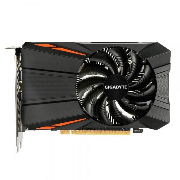 Placa video GIGABYTE NVIDIA GeForce GTX 1050 Ti D5 4G, N105TD5-4GD, PCI- E 3.0 x 16, 4 GB GDDR5, 128 bit, Boost: 1430MHz/ Base: 1316MHz in OC Mode, Boost: 1392MHz/ Base: 1290MHz in Gaming, Memory Cloc 0