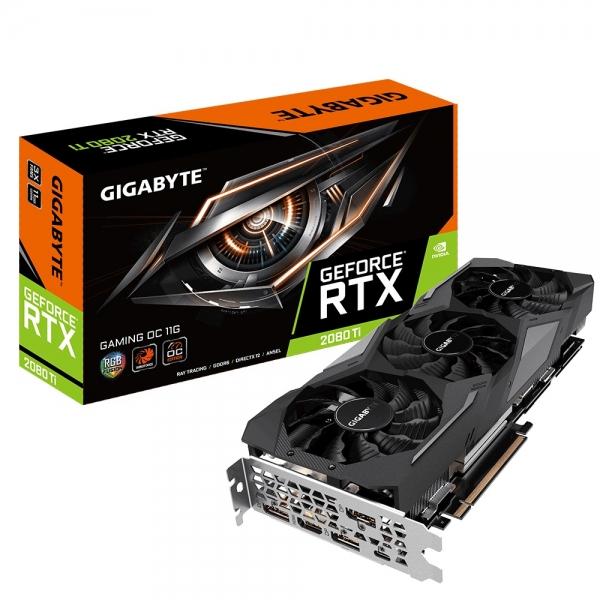 Placa video GIGABYTE NVIDIA GeForce RTX 2080 Ti Gaming OC 11G, PCI-E 3.0x 16, 11GB GDDR6, 352bit, Core Clock: 1665 MHz in OC mode/ 1650 MHz in Gaming mode, 1x HDMI-2.0b, 3x Display Port-1.4, ATX 3