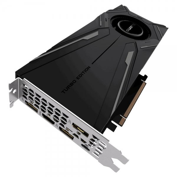 Placa video GIGABYTE NVIDIA GeForce RTX 2080 TURBO OC 8G, 8GB GDDR6, 256-bit, Core Clock: OC mode: 1785 MHz (Reference card: 1710 MHz), Memory Clock: 14000 MHz, 3x DP, 1x HDMI, USB Type-C, PCI Express 2