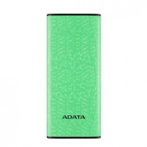 "POWER BANK ADATA 10000mAh, 2 x USB, 4 x LED pt. status baterie, P10000 10.000 mAh, total 2.1A out, green ""AP10000-DUSB-CGN"" (include timbru verde 0.5 lei) 0"