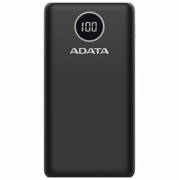 "POWER BANK ADATA 20000mAh, 2 x USB & 1 x USB-C, digital display pt. status baterie, P20000QCD 20.000 mAh, total 3A, black, ""AP20000QCD-DGT-CBK"" (include timbru verde 0.5 lei) 0"